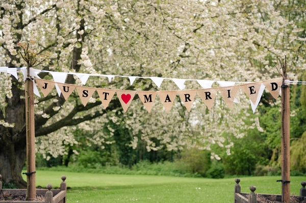 English Country Wedding Bunting