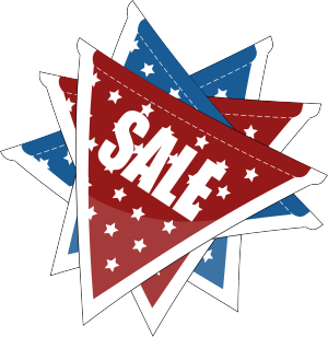 Red and Blue Sale Bunting