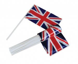 UK Union Jack Hand Waving Flags